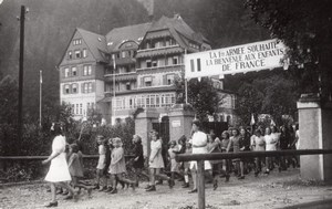 Black Forest Sulz am Neckar French Kids Holiday Camp old Press Photo 1945