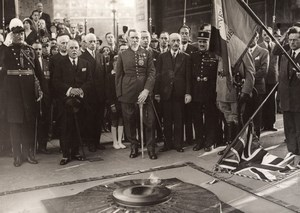 Paris General Gouraud British Legion Unknown Soldier Tomb Meurisse Photo 1930's