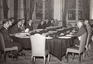 Paris Quai d'Orsay Conférence de Tanger Delegates old Press Photo 1945