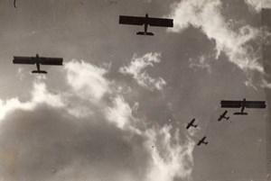 Paris Le Bourget Aviation Aerial Maneuvers old Meurisse Photo 1930's