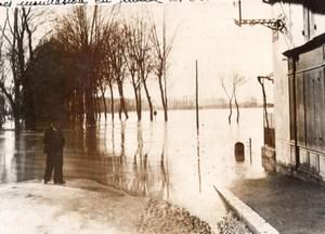 France Gironde Saint Macaire La Garonne Floods old Meurisse Photo 1936