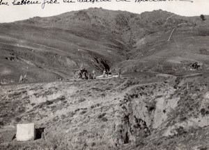 Greece Macedonia Greek Battery Military Artillery old Meurisse Photo 1930's