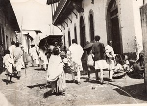 Ethiopia Addis Ababa Busy Street Animation old Meurisse Photo 1930's