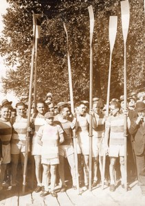 Sport Rowing Marne Winning Team Oars old Meurisse Photo 1931