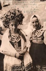 Czechoslovakia Beauty Contest Winners Fashion old Rol Photo 1936
