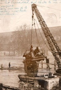 Paris Pont du Carrousel Accident 3 dead Workmen old Rol Photo 1936