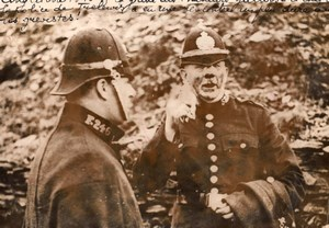 Wales Welsh Miners Strike Trelewis Police Chief Mining old Rol Photo 1935