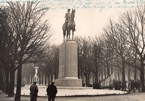Paris Life size model of Albert Ier Monument Martial & Gautruche Rol Photo 1936
