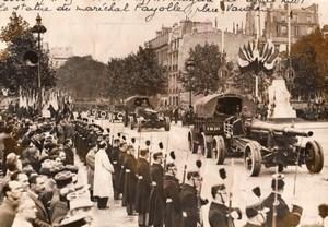 Paris Place Vauban Marechal Fayolle Statue Military Parade old Rol Photo 1935