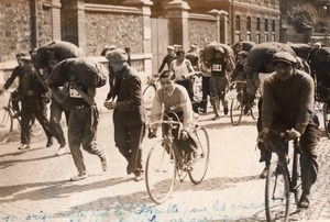 Paris Pantin Coal workers Cycling Race with 50kg Bag old Rol Photo 1936