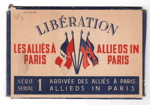France WWII Allies in Paris Freed Set of 10 photos edited by STL Lavelle 1945