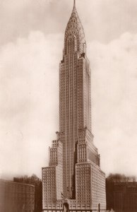 USA New York Chrysler Building old RPPC Photo 1940 ?