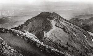 Wyoming Yellowstone National Park from Washburn Mtn old Haynes RPPC Photo 1940