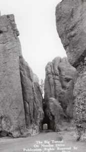 USA South Dakota Needles Drive Big Tunnel Canedy's Camera Shop RPPC Photo 1940