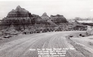 South Dakota Badlands National Park Cedar Pass Canedy's Camera Shop RPPC 1940