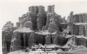 South Dakota Badlands National Park Castle Trail Canedy's Camera Shop RPPC 1940