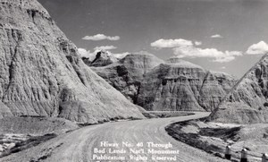 South Dakota Badlands National Park Highway 40 Canedy's Camera Shop RPPC 1940
