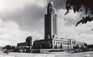 Nebraska Lincoln Capitol old RPPC Photo LL Cook EKC 1940's