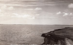 Nebraska Johnson Lake near Lexington old RPPC Photo LL Cook EKC 1940's
