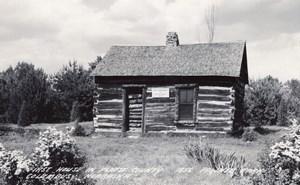 Nebraska Columbus 1st House in Platte County old RPPC Photo LL Cook EKC 1940's