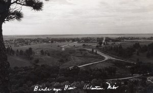 Nebraska Valentine Birds eye View Panorama old RPPC Photo 1940