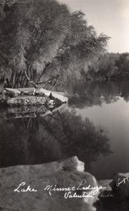Nebraska Valentine Lake Minnechaduza Creek old RPPC Photo 1940
