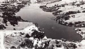 Nebraska Valentine Lake Minnechaduza Dam old RPPC Photo 1940