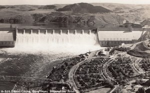 Washington Grand Coulee Dam old Sawyers RPPC Photo 1940's