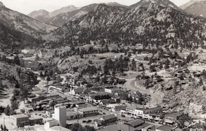 Colorado Estes Park Mountain Village old Sanborn RPPC Photo 1940's