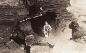 Missouri Hannibal Mark Twain Cave Jesse James Hideout RPPC Photo 1939