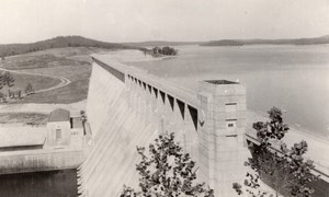 Arkansas Norfork Dam General View old RPPC Photo 1940's