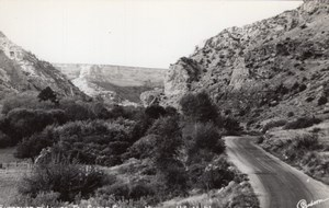 Wyoming Ten Sleep Canyon Mountain Road Sanborn RPPC Photo 1940