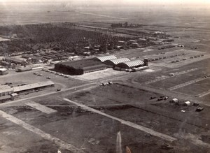 Morocco Marrakech Menara Airport Aerial View old Photo 1940's