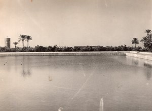 Morocco Marrakech Menara Gardens Basin old Photo 1940's