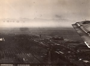 Morocco Marrakech Menara Airport & Gardens Aerial View old Photo 1940's