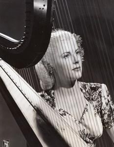Harpist Elaine Vito Mildred Bailey & Company old CBS Photo 1940's