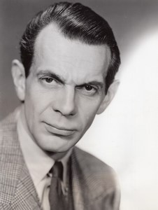 American Actor Raymond Massey The Doctor Fights old CBS Photo 1944