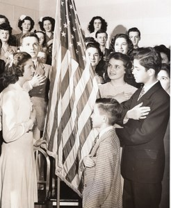 Columbia's Youth on Parade Flag Day Old Glory Patriotic old CBS Photo 1944