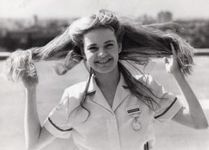 British Actress Michelle Martin BBC Series Angels Nurse old Photo 1982