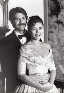 Actors Peter Coyote & Elizabeth Hurley in Act of Will old Photo 1989