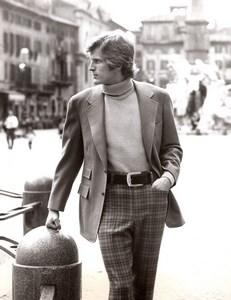 Rome 1970's Men Fashion Sportswear J.P. Stevens Textile old Photo