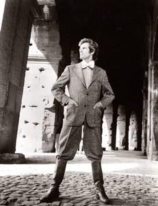 Rome Coliseum 1970's Men Fashion J.P. Stevens Textile old Photo