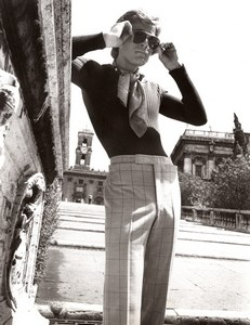 Rome Capitoline Hill 1970's Men Fashion J.P. Stevens Louis Estevez old Photo
