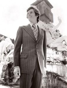 Rome Capitoline Hill 1970's Men Fashion J.P. Stevens Textile old Photo