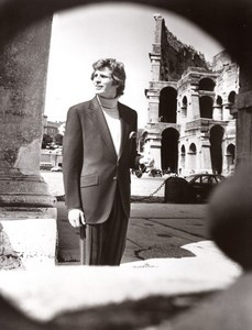 Rome Coliseum Mode Masculine Annees 70 J.P. Stevens Textile Ancienne Photo