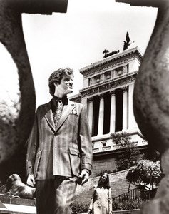 Rome Capitol Steps 1970's Men Fashion J.P. Stevens Allen Case old Photo