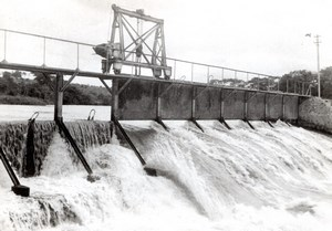 Germany? Temporary Dam? River old Press Photo 1940's