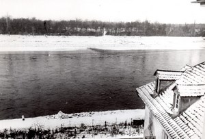 Allemagne Rhin Supérieur en Hiver WWII Ancienne Photo de Presse 1940