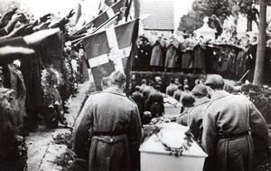 Denmark Stege German Sailors Funerals old Press Photo October 1939