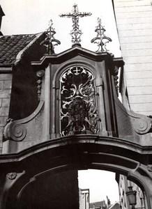 Belgique Bruxelles Potale portail rue du Rempart des Moines St Rochus Ancienne Photo 1960